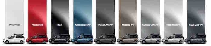Citroen Berlingo Multispace Exterior Colours
