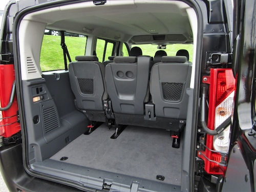 Citroen Dispatch Combi Rear Seat Boot View