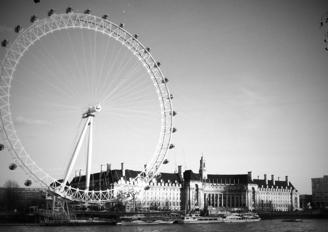 London Eye in Black and White