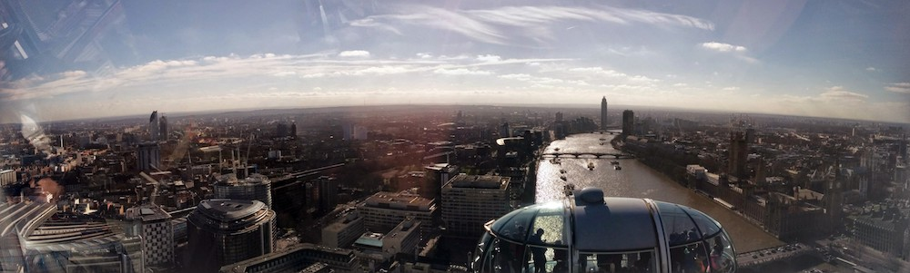 London Eye Panoramic view
