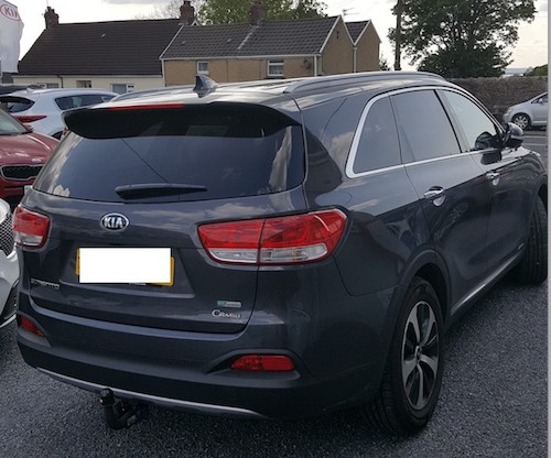 Kia Sorento - Rear View Blue