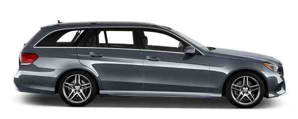 Mercedes Benz E Class - Side View Blue