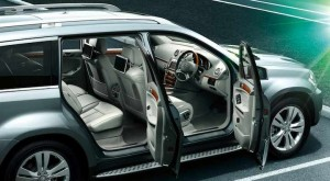 Mercedes Benz GL Class Interior side view of seating