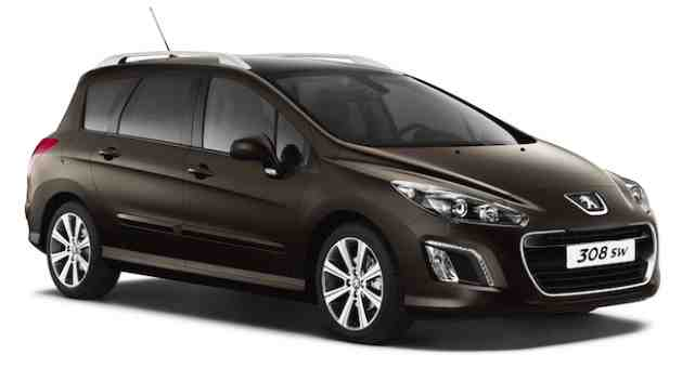 Peugeot-308SW - Front View