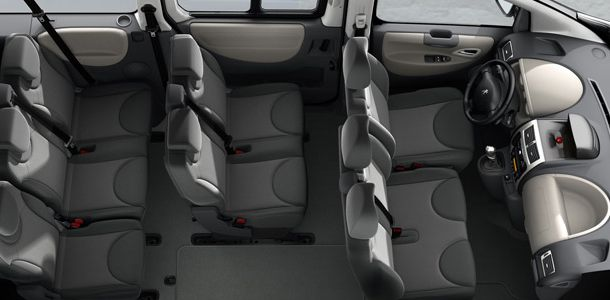 Peugeot Expert Tepee Interior Seating View