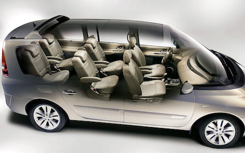 Renault-Espace seating view