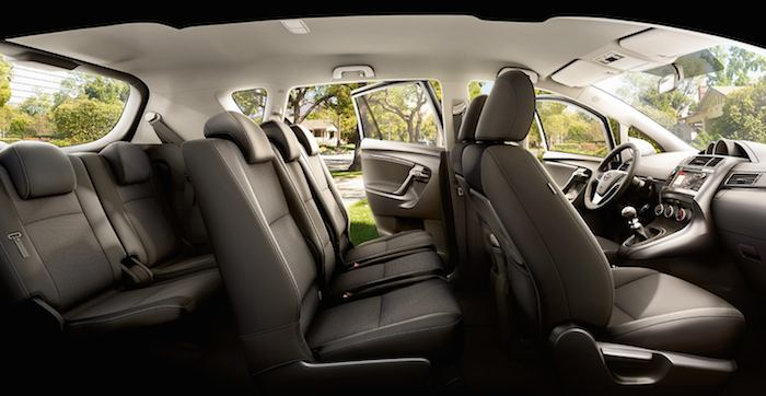 Toyota Verso Seating Layout