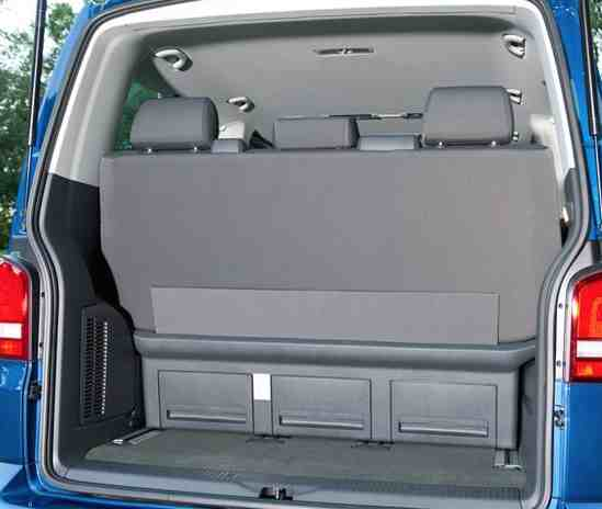 VW Caravelle Boot Space