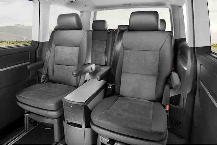 VW Caravelle interior seats