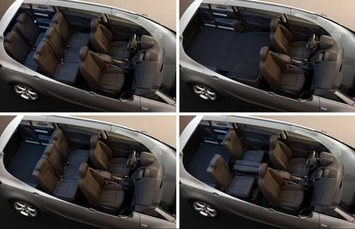 Vauxhall Zafira Seating